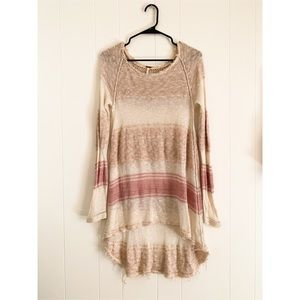 Free people crochet striped tunic dress